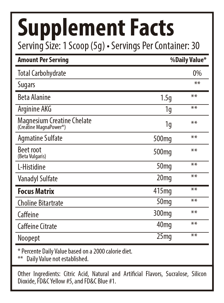 tabela nutricional betadrene